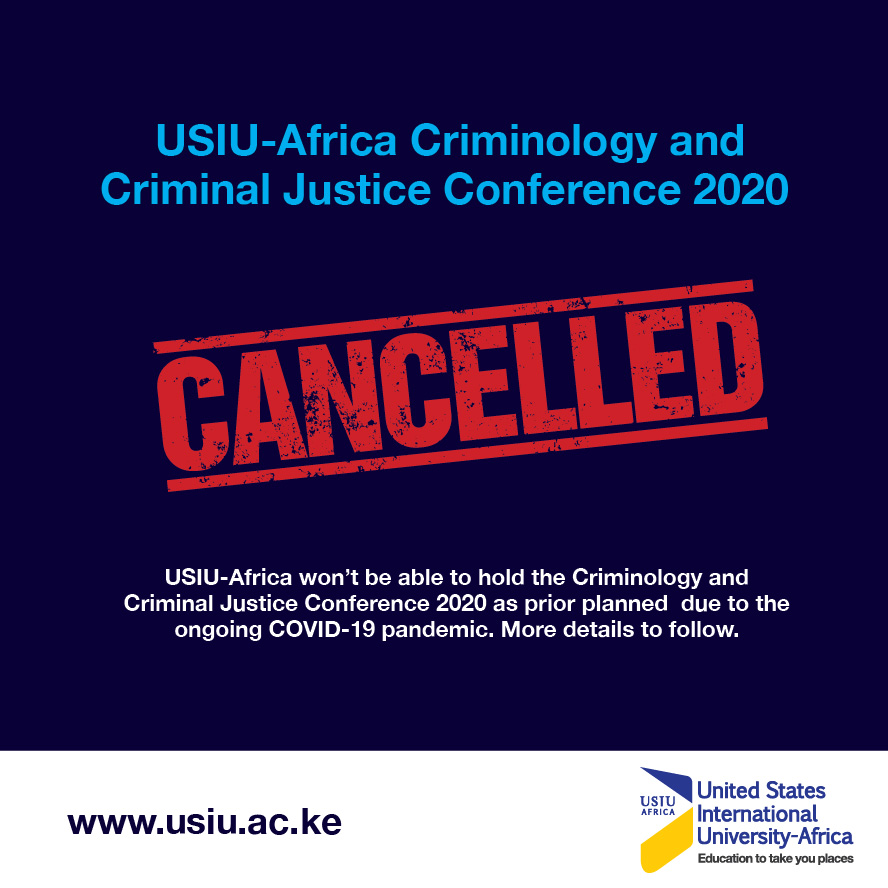 Cancelled: Criminology and Criminal Justice Conference 2020