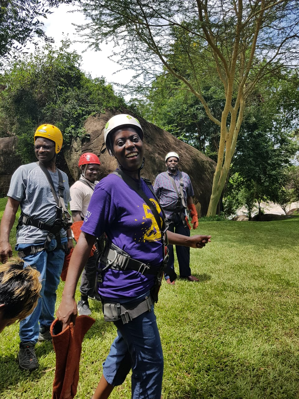 Faculty members visit Sagana for thrill and adventure
