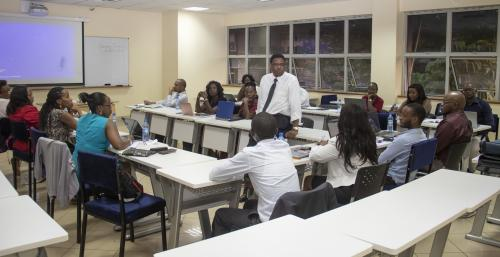 Dr. Kaluyu guest lectures on emerging trends in...