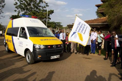 University clinic commissions new ambulance - Pharmacy & Health Sciences