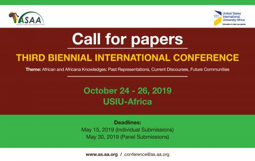 Call for Paper and Panels: 3rd Biennial Conference African and Africana Knowledges: Past Representations, Current Discourses, Future Communities