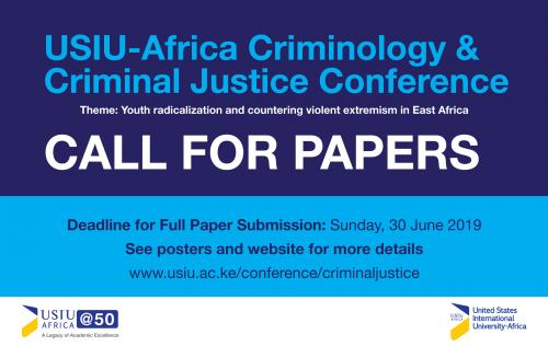 Call for Papers: Criminology and Criminal Justice...