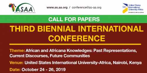3rd Biennial Conference African and Africana Knowledges: Past Representations, Current Discourses, Future Communities