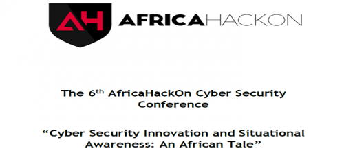 The 6th AfricaHackOn Cyber Security Conference: Monday to Friday: 12th - 16th August 2019