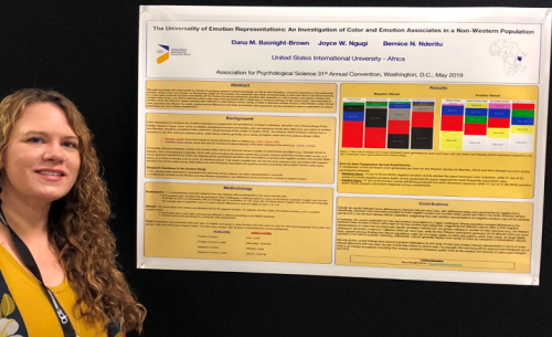 Dr. Dana Brown and two Psy. D students present research findings at the Association of Psychological Science convention