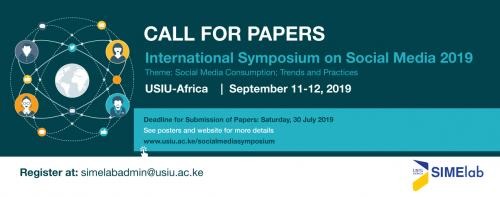 Call for Papers: International Symposium on Social Media 2019