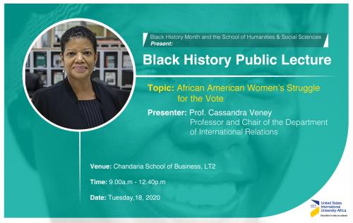Black History Month Public Lecture