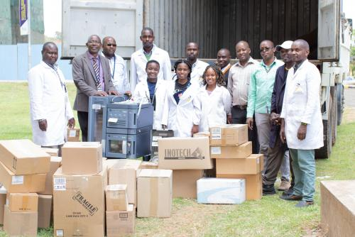 School of Pharmacy and Health Sciences receives laboratory equipment from Seeding Labs through a grant won in 2018.