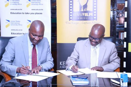 USIU-Africa signs MoU with Kenya Film Commission to boost film studies