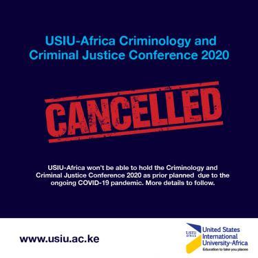 Cancelled: Criminology and Criminal Justice...