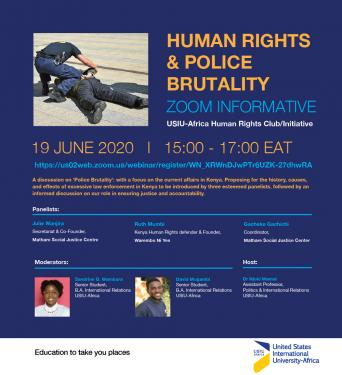 Human Rights and Police Brutality Webinar