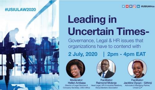 Leading in Uncertain Times - Governance, Legal &...