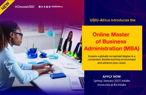 USIU-Africa launches the first ever fully online degree program, the Online Master of Business Administration