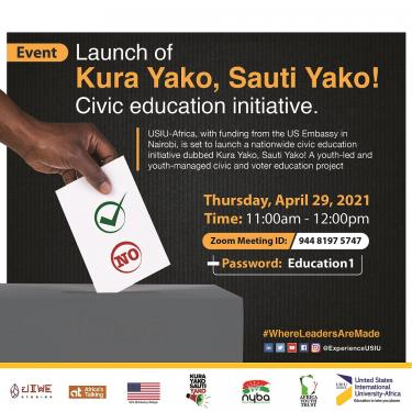 Kura Yako, Sauti Yako! Civic Education Initiative