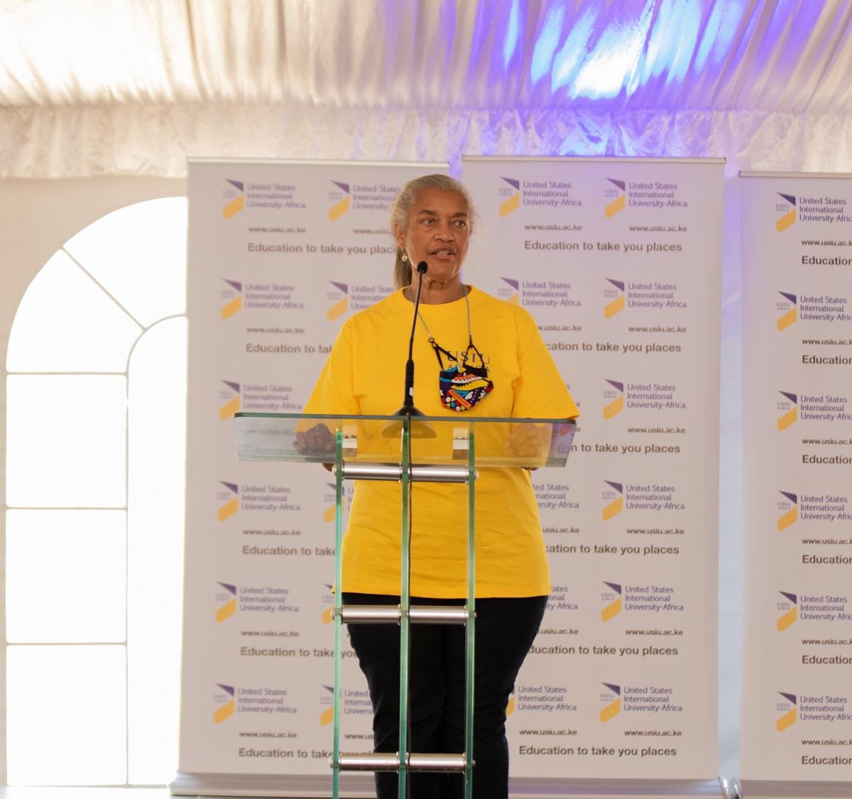 The USIU-Africa community welcomes back Prof. Freida Brown