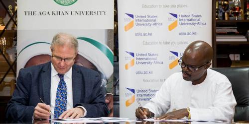 AKU and USIU-A launch partnership